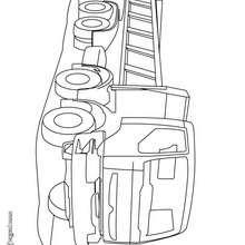 Dibujo camión de obra - Dibujos para Colorear y Pintar - Dibujos para colorear VEHICULOS - Dibujos para colorear CAMION