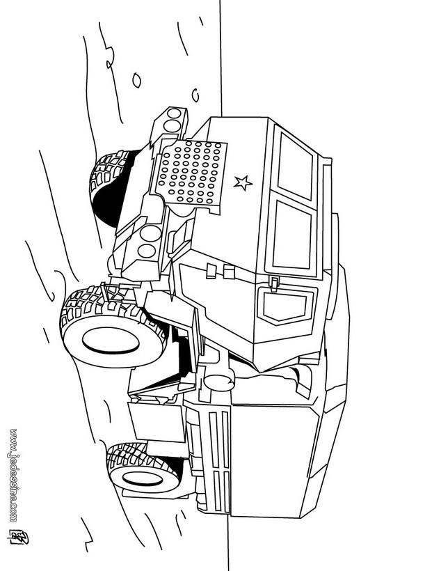 Dibujos para colorear un camión tractora - es.hellokids.com