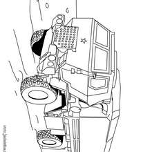 Dibujo de un camion tanque militar - Dibujos para Colorear y Pintar - Dibujos para colorear VEHICULOS - Dibujos para colorear CAMION
