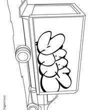 Dibujo de un camión de mudanza - Dibujos para Colorear y Pintar - Dibujos para colorear VEHICULOS - Dibujos para colorear CAMION