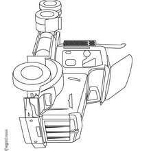 Dibujo de una tractora semirremolque - Dibujos para Colorear y Pintar - Dibujos para colorear VEHICULOS - Dibujos para colorear CAMION