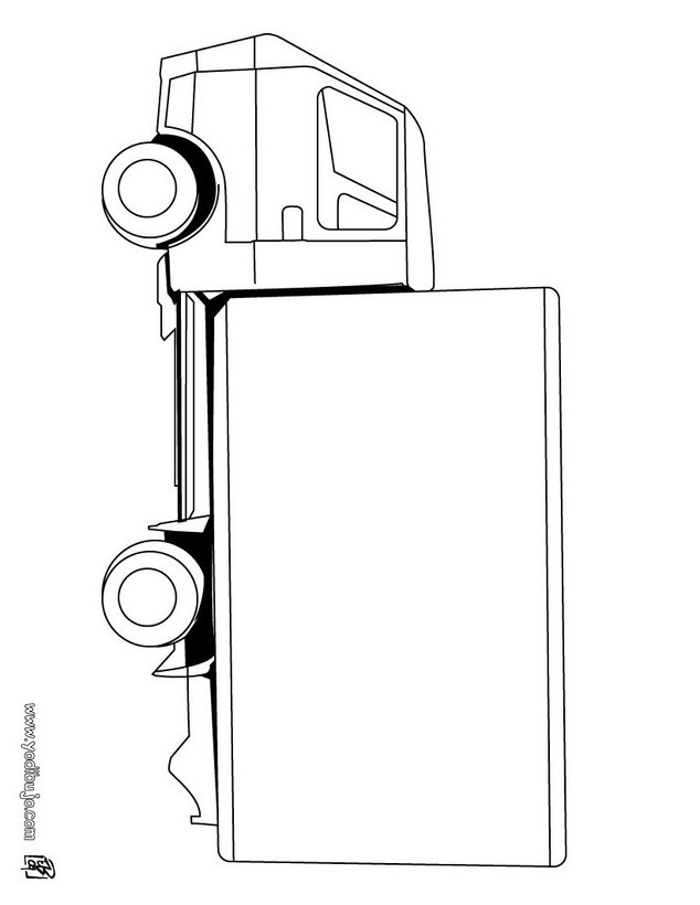 Dibujos para colorear un camion tanque militar - es.hellokids.com