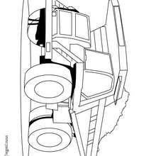 Dibujo de un camión volquete - Dibujos para Colorear y Pintar - Dibujos para colorear VEHICULOS - Dibujos para colorear CAMION