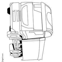 Dibujo para colorear : un camión semirremolque
