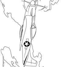 Dibujo de un avión de guerra - Dibujos para Colorear y Pintar - Dibujos para colorear MEDIOS DE TRANSPORTE - Dibujos para colorear AVION