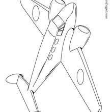 Dibujo para colorear : un avión escuela