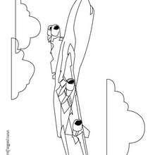 Dibujo de un avión a reacción - Dibujos para Colorear y Pintar - Dibujos para colorear MEDIOS DE TRANSPORTE - Dibujos para colorear AVION
