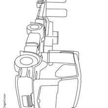 Dibujo de un camión tractora  - Dibujos para Colorear y Pintar - Dibujos para colorear VEHICULOS - Dibujos para colorear CAMION