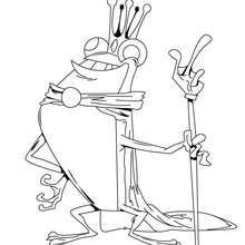 Dibujo rana reina - Dibujos para Colorear y Pintar - Dibujos para colorear ANIMALES - Dibujos REPTILES para colorear - Colorear dibujos RANA