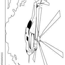 Dibujo de un helicoptero militar - Dibujos para Colorear y Pintar - Dibujos para colorear MEDIOS DE TRANSPORTE - Dibujos para colorear HELICOPTEROS