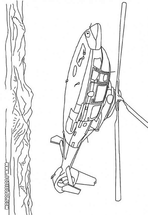 Dibujo para colorear : Une helicóptero