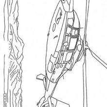 Une helicóptero - Dibujos para Colorear y Pintar - Dibujos para colorear MEDIOS DE TRANSPORTE - Dibujos para colorear HELICOPTEROS