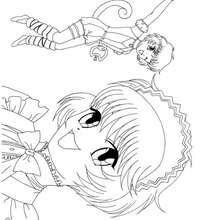 Dibujo de Kikki Mew Mew - Dibujos para Colorear y Pintar - Dibujos para colorear MANGA - Dibujos para colorear MEW MEW POWER  - Dibujos para pintar MEW MEW POWER