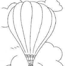 Dibujo de un globo - Dibujos para Colorear y Pintar - Dibujos para colorear MEDIOS DE TRANSPORTE - Dibujos para colorear AVION