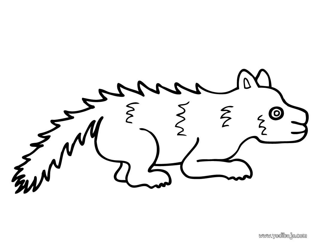 Dibujos para colorear un zorrillo - es.hellokids.com