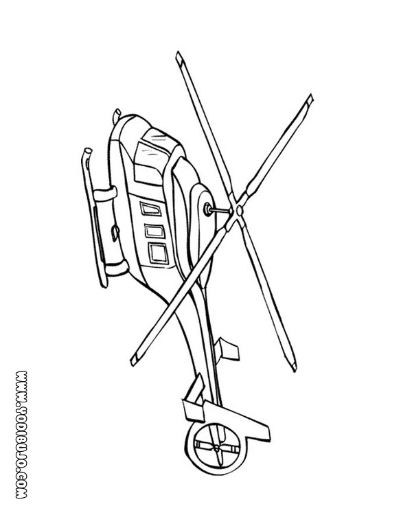 Dibujos Para Colorear Helicoptero Con Dos Helices