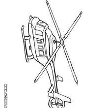 Dibujo helicoptero con dos helices - Dibujos para Colorear y Pintar - Dibujos para colorear MEDIOS DE TRANSPORTE - Dibujos para colorear HELICOPTEROS