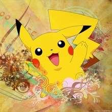 POKEMON: fondo amarillo Pikachu