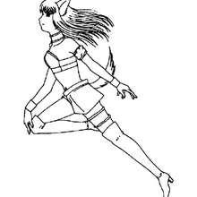 Dibujo de Renee transformada en mew mew - Dibujos para Colorear y Pintar - Dibujos para colorear MANGA - Dibujos para colorear MEW MEW POWER  - Dibujos infantiles para colorear MEW MEW POWER