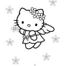 Dibujo hello kitty con alas