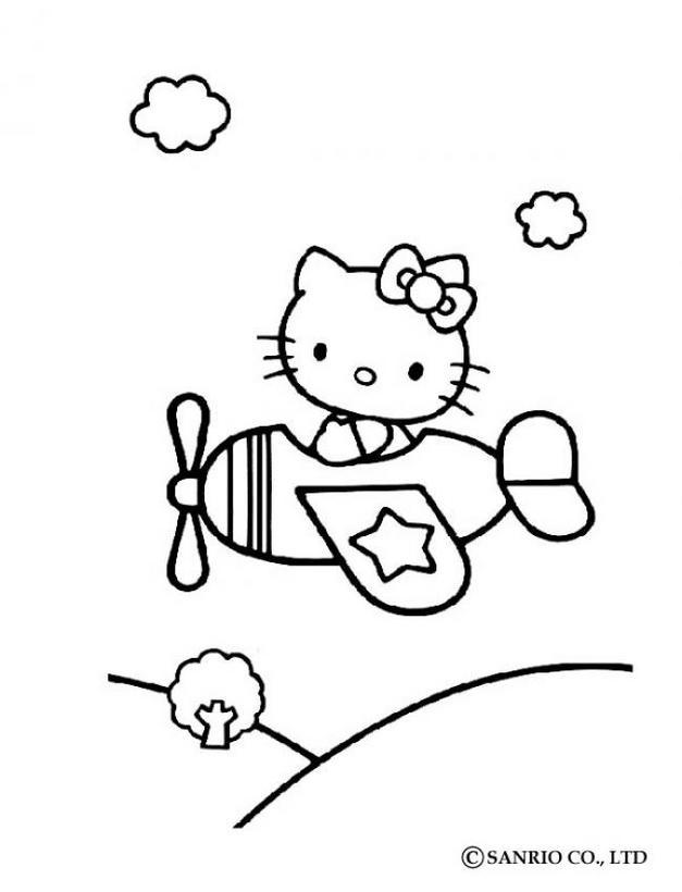 Dibujos para colorear hello kitty rosas - es.hellokids.com