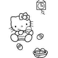 Dibujo para imprimir GATITA KITTY - Dibujos para Colorear y Pintar - Dibujos para colorear PERSONAJES - PERSONAJES TV para colorear - Dibujos HELLO KITTY para colorear