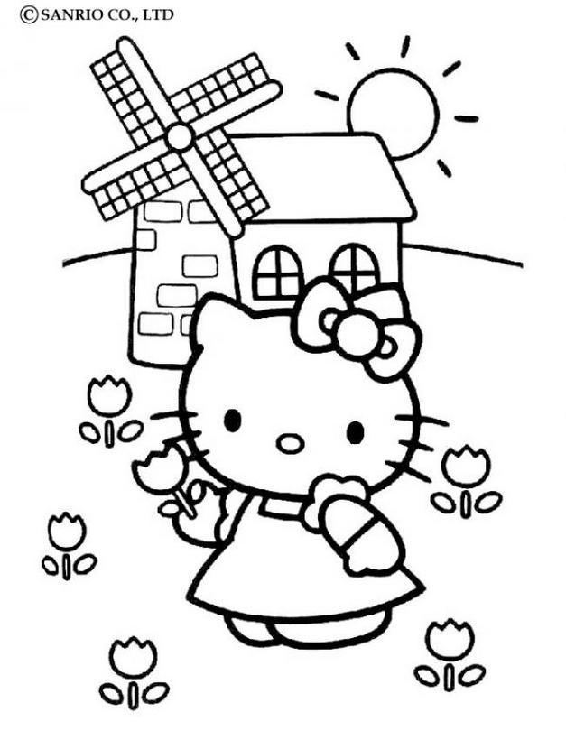 Dibujos Para Colorear De Hello Kitty Para Imprimir