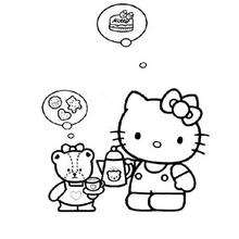 HELLO KITTY soñando