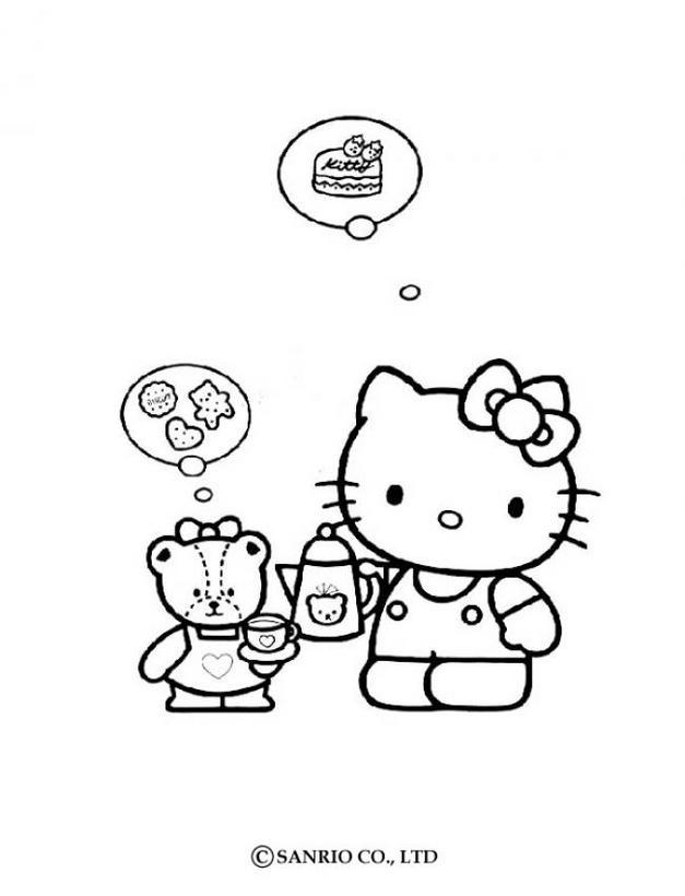 Dibujos para colorear hello kitty - es.hellokids.com