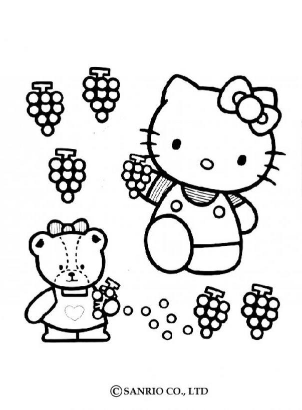 Dibujos para colorear hello kitty beso - es.hellokids.com