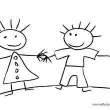 Dibujo de niños - Dibujos para Colorear y Pintar - Dibujos para colorear de la ESCUELA - Dibujos VUELTA AL COLE para colorear gratis