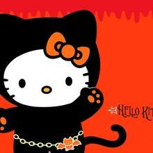 Fondo hello kitty halloween