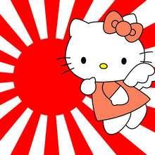 Fondo de pantalla : Fondo hello kitty sol rojo