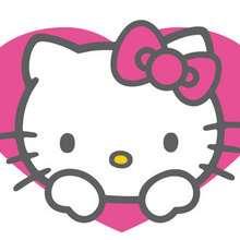 Fondo de pantalla : Fondo hello kitty corazón