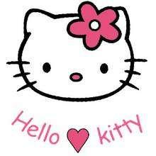 Fondo cara de hello kitty