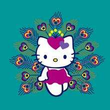 Fondo Hello Kitty pavo real