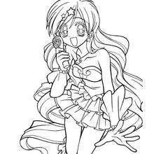 Dibujo de Hanon sirena (mermaid melody) - Dibujos para Colorear y Pintar - Dibujos para colorear MANGA - Dibujos para colorear PICHI PICHI PITCH MERMAID MELODY - Dibujos para pintar gratis PICHI PICHI PITCH