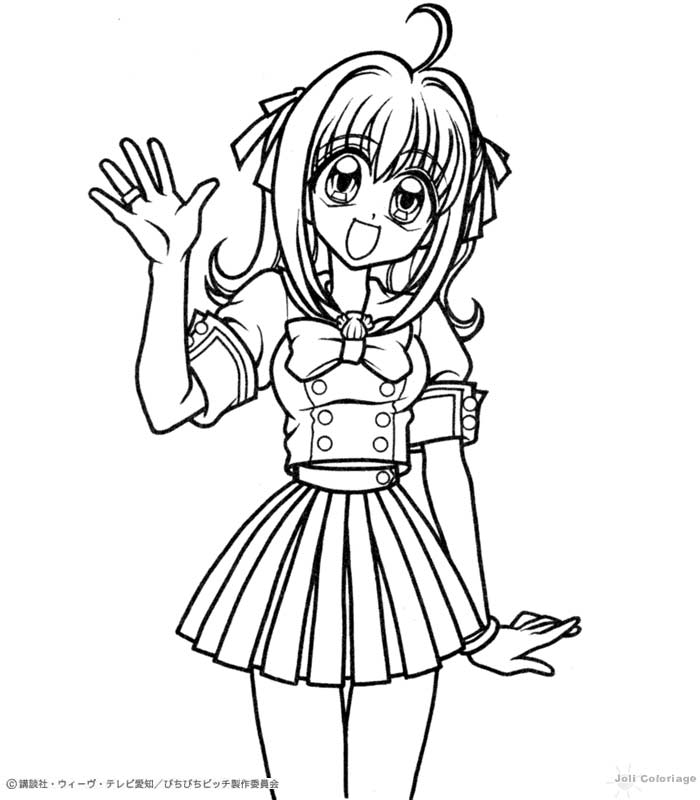 chibi melody coloring pages - photo#24