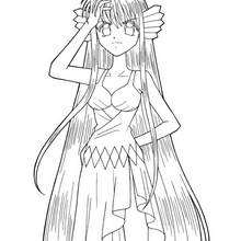 Dibujo para colorear : Maria humana (mermaid melody)