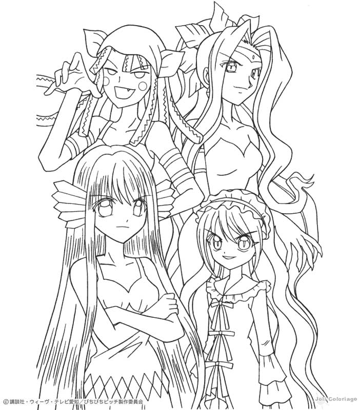 Dibujo para colorear : las sirenas malas (mermaid melody)