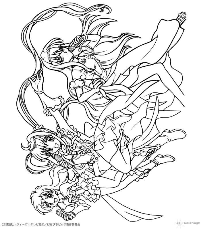 Dibujos para colorear PICHI PICHI PITCH MERMAID MELODY - 14 dibujos ...
