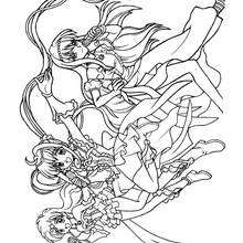 Dibujo para colorear : las sirenas (mermaid melody)