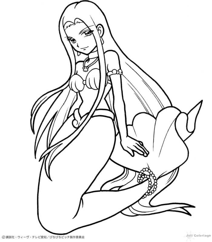 Dibujo de la sirena sara mermaid melody