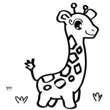 Dibujo de girafa - Dibujos para Colorear y Pintar - Dibujos infantiles para colorear - Especial Peques: Dibujos para colorear