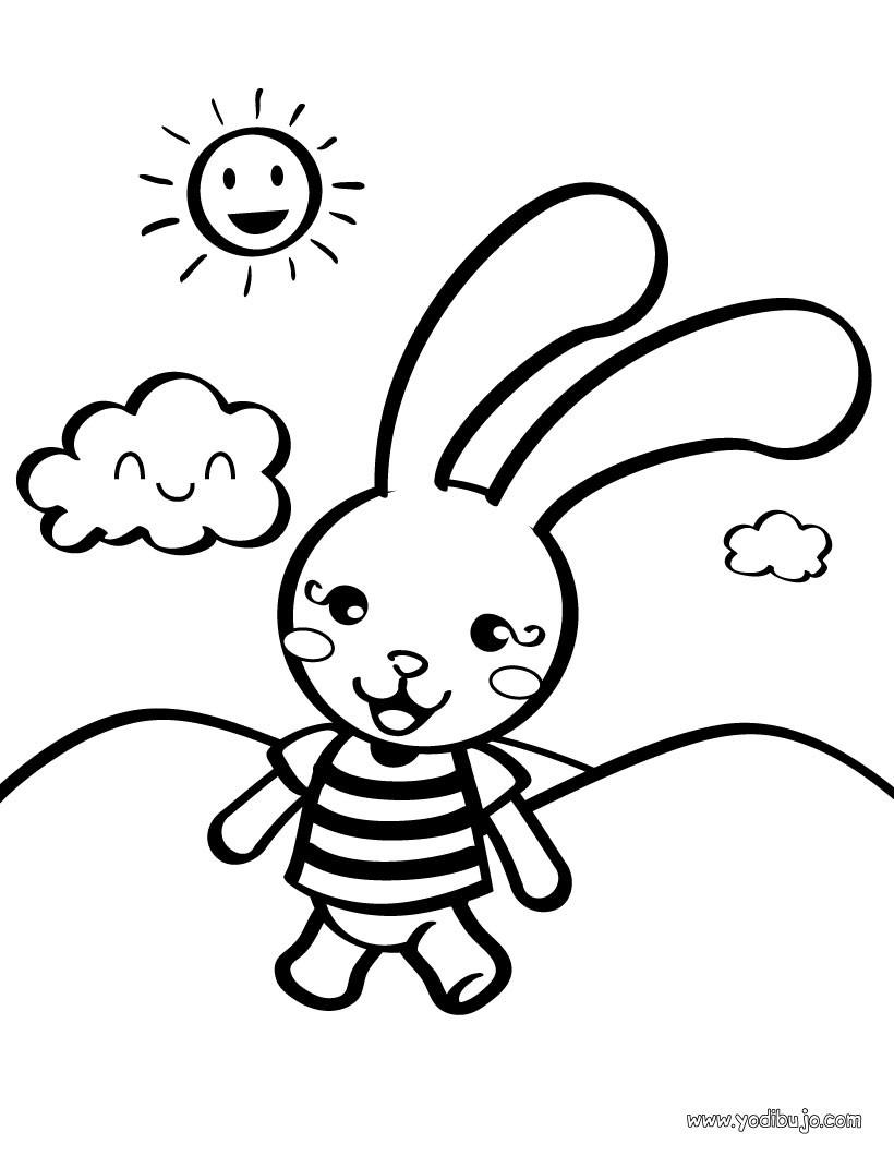 Dibujo de conejito - Especial Peques: Dibujos para colorear