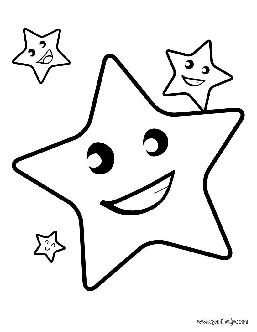 estrellas animadas para colorear