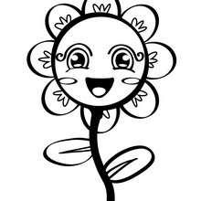 Dibujo para colorear : una flor