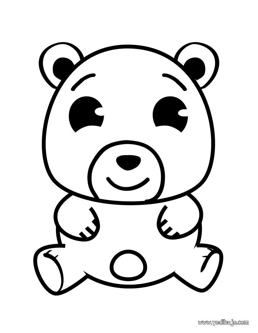 Dibujos para colorear osito - es.hellokids.com