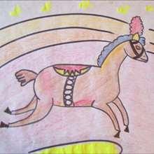 Dibuja un caballo de circo