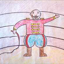 Aprender a dibujar : Dibuja a un domador de circo